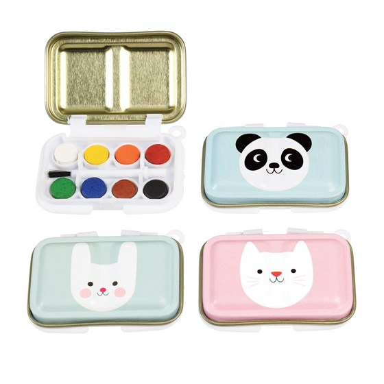 cat, bunny and panda mini paint set