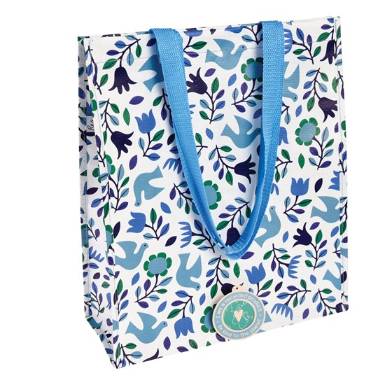 FOLK DOVES SHOPPING BAG