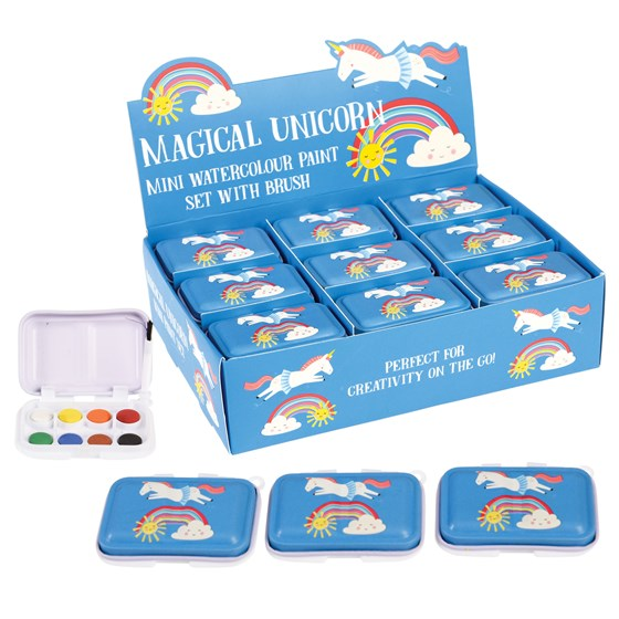 magical unicorn mini paint set