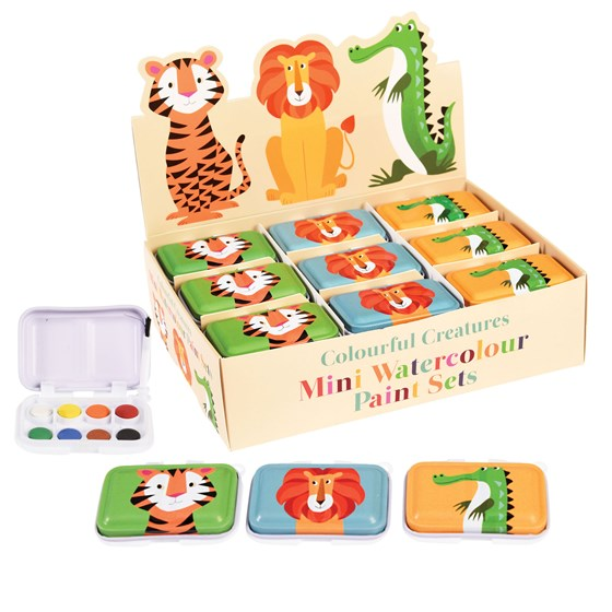 assorted colourful creatures mini paint sets