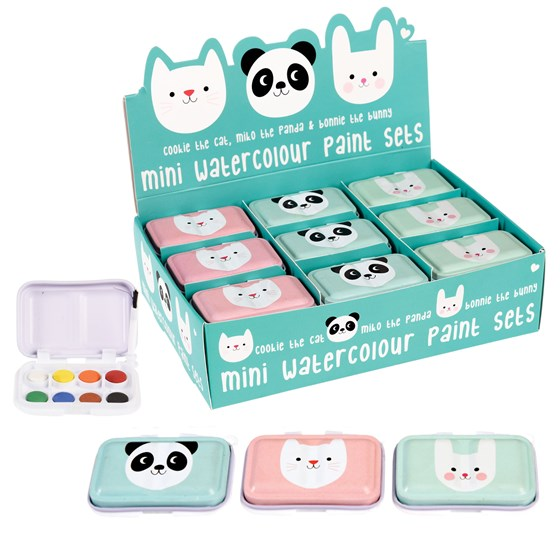 assorted miko and friends mini paint sets