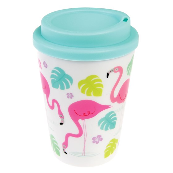 FLAMINGO BAY REUSABLE TRAVEL MUG