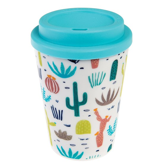 DESERT IN BLOOM REUSABLE TRAVEL MUG