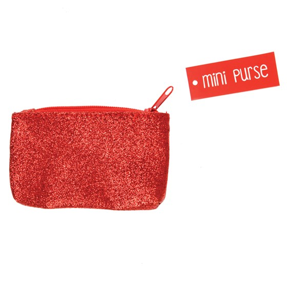 RED GLITTER MINI PURSE