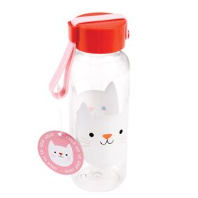 small cookie the cat water bottle