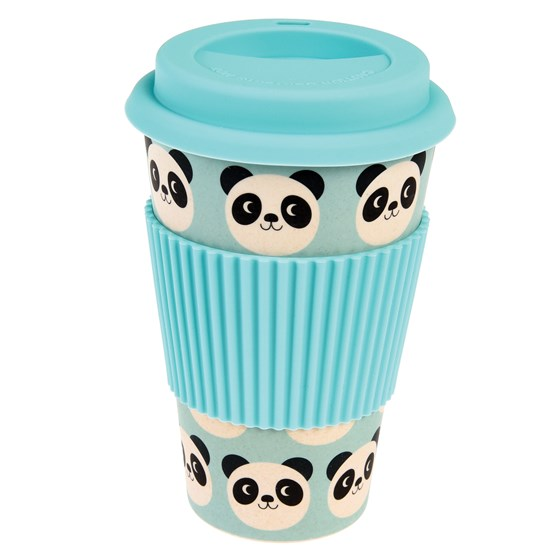coffee-to-go-becher aus bambusfaser miko the panda