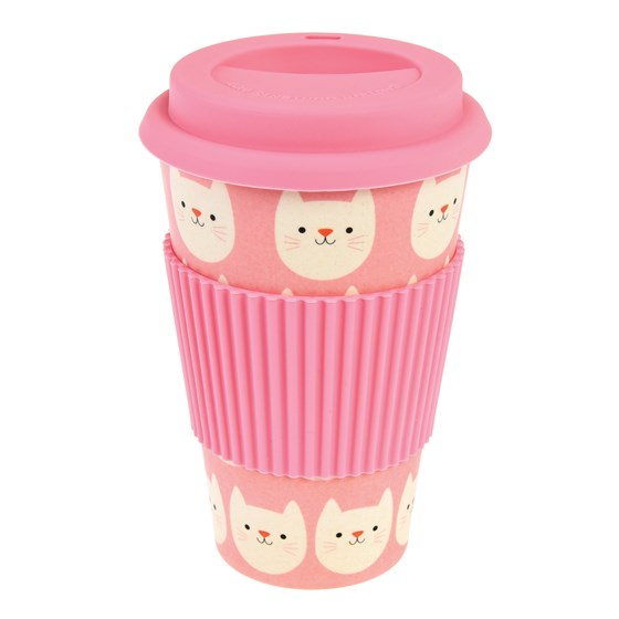 coffee-to-go-becher aus bambusfaser cookie the cat