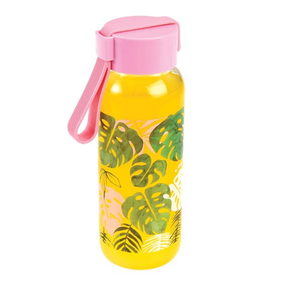 small tropical palm water bottle