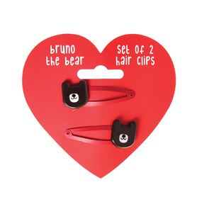 bruno the bear hairclips (set of 2)