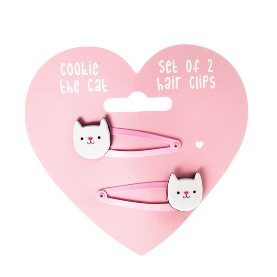 COOKIE THE CAT HAIRCLIPS (SET OF 2)