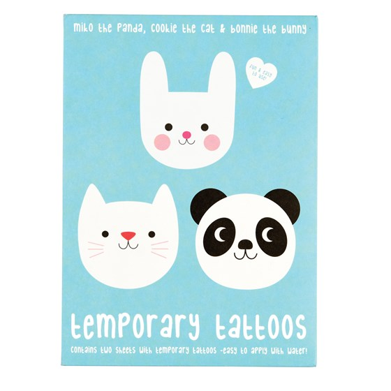 miko and friends temporary tattoos (2 sheets)