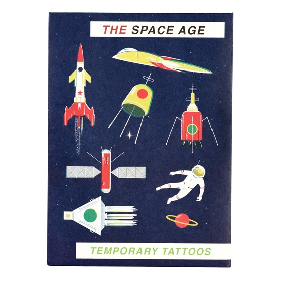 space age temporary tattoos (2 sheets)