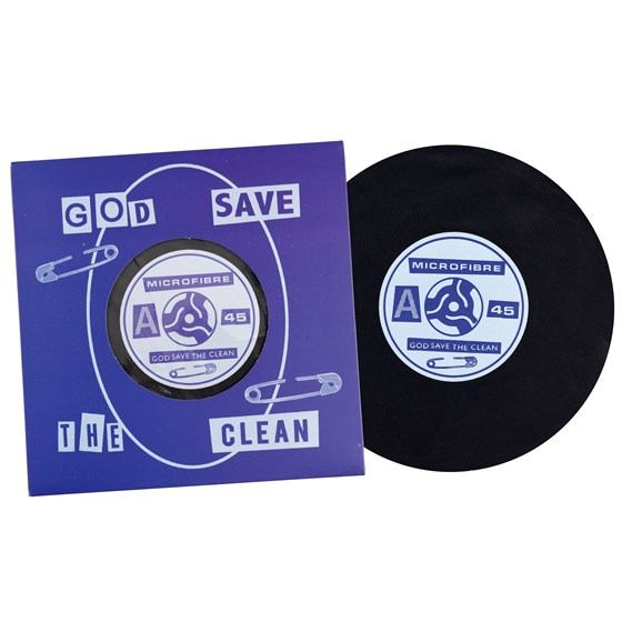 "record ""god save the clean"" microfibre cloth"