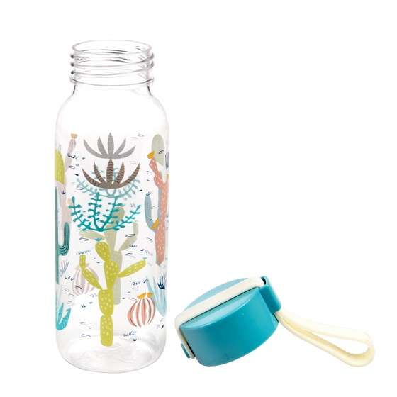 small desert in bloom water bottle
