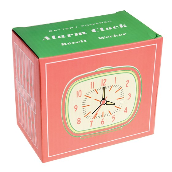 retro pink alarm clock