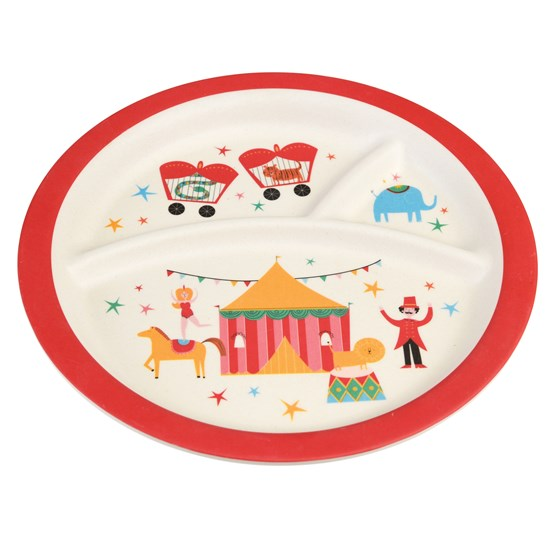BIG TOP CIRCUS BAMBOO SEGMENTED PLATE