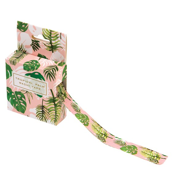 washi tape tropical palm