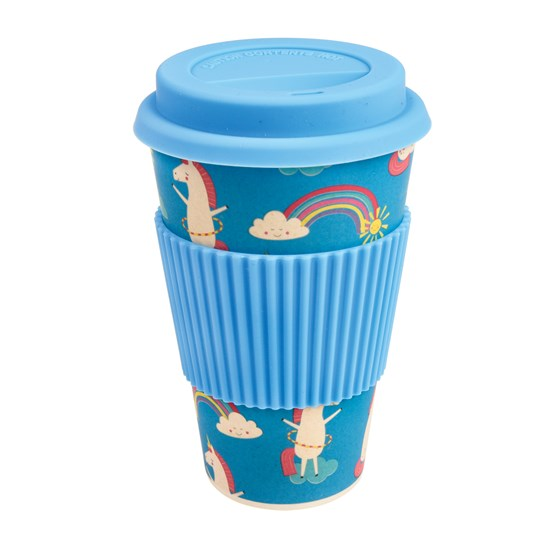 coffee to go - becher aus bambusfasern magical unicorn
