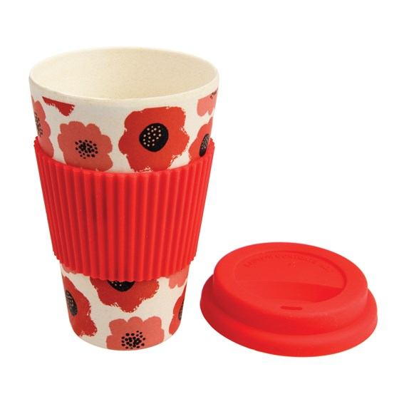 poppy bamboo travel mug