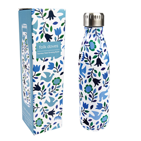 folk doves stainless steel bottle