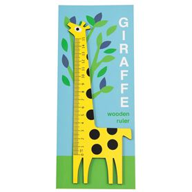 yellow giraffe wooden ruler