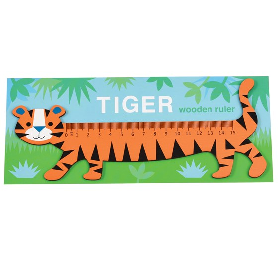 TIGER WOODEN RULER