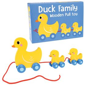 duck family wooden pull toy