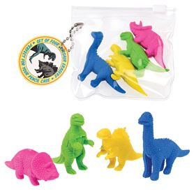 dinosaur erasers (set of 4)