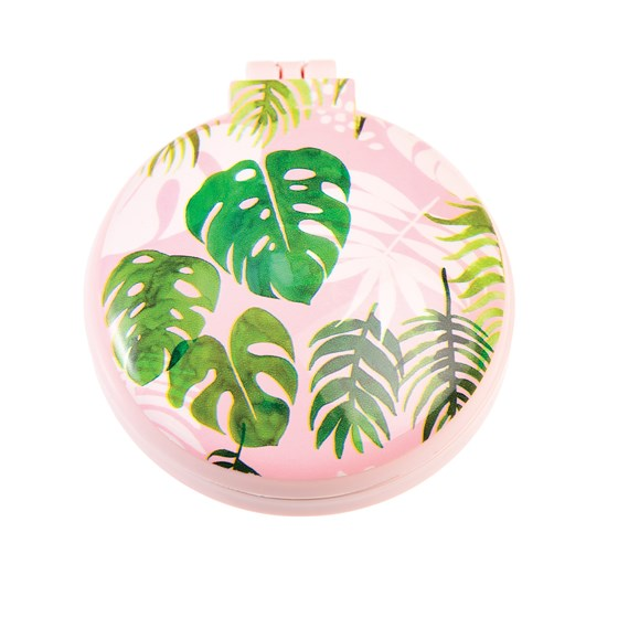 tropical palm compact hairbrush