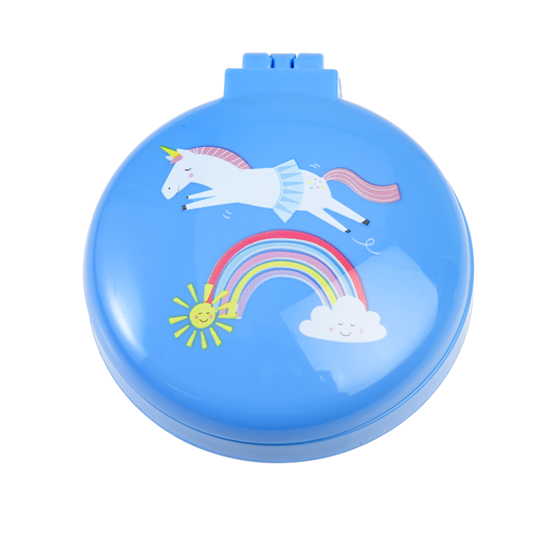 magical unicorn compact hairbrush