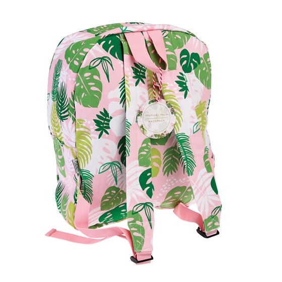 tropical palm backpack
