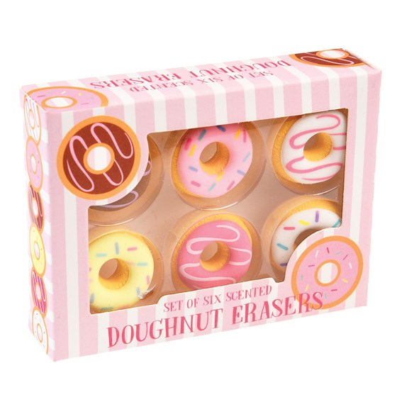 SCENTED DOUGHNUT ERASERS (SET OF 6)