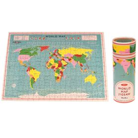 world map puzzle in der dose