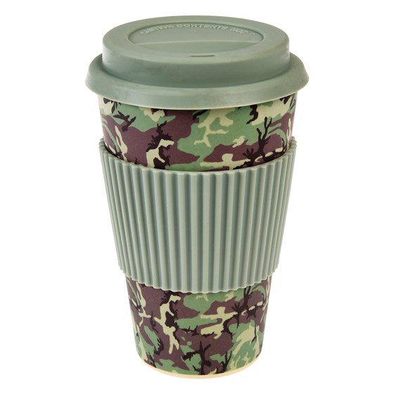 coffee to go - becher aus bambusfasern camouflage