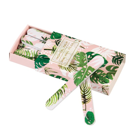 TROPICAL PALM MATCHBOX NAIL FILES (PACK OF 12)