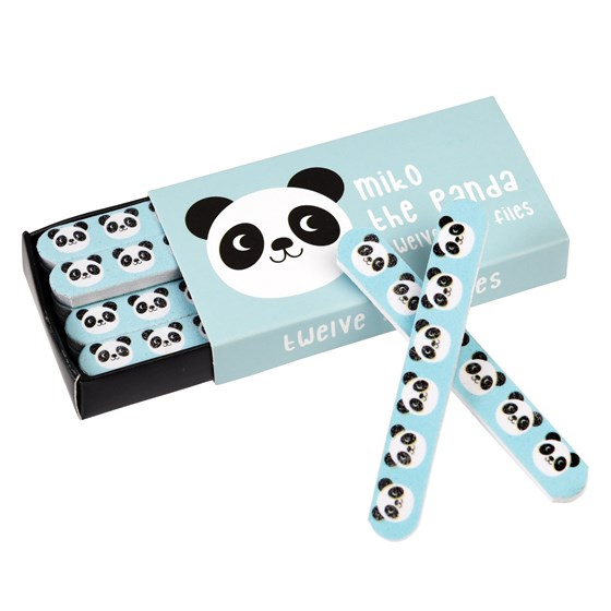 MIKO THE PANDA MATCHBOX NAIL FILES (PACK OF 12)