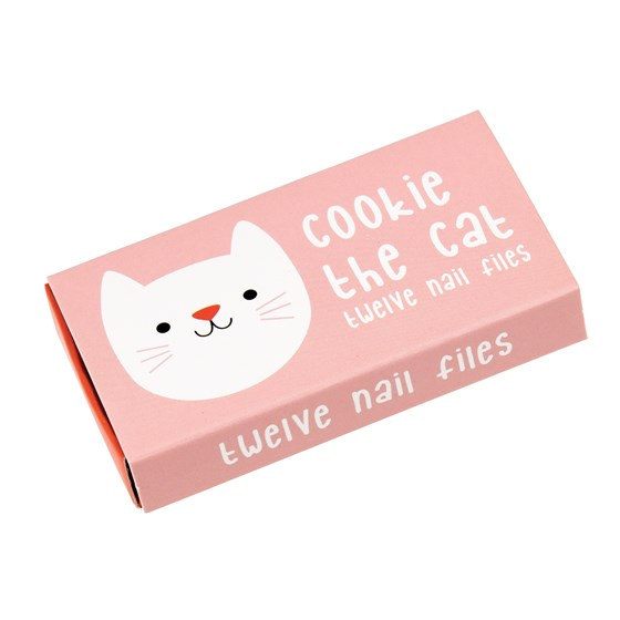 cookie the cat matchbox nail files (pack of 12)