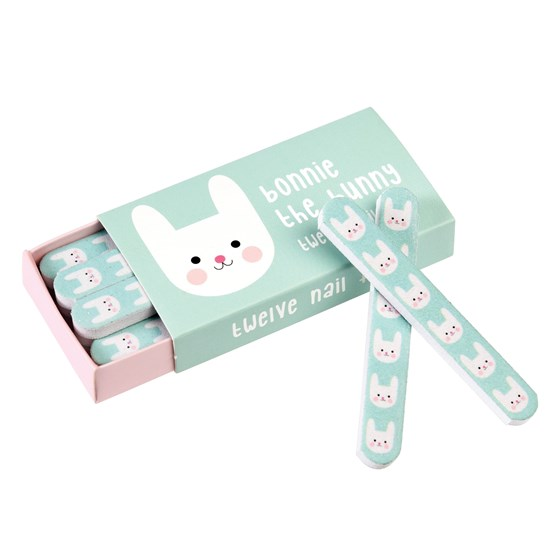 bonnie the bunny matchbox nail files (pack of 12)