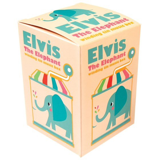 caja de música elvis the elephant