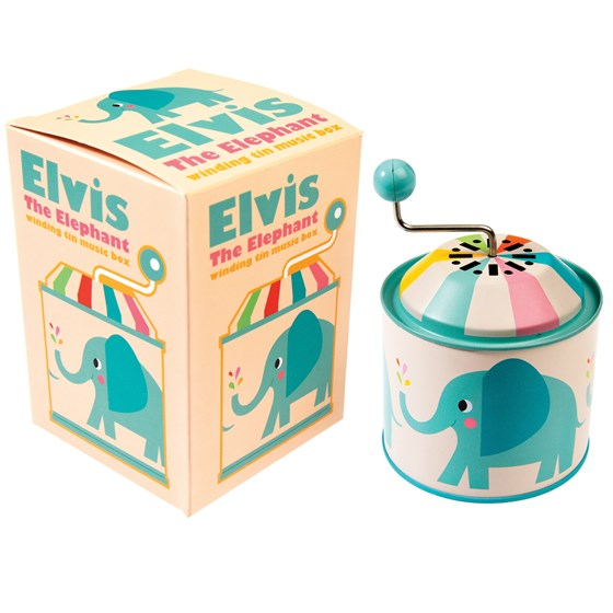 ELVIS THE ELEPHANT MUSIC BOX