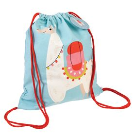 dolly llama drawstring bag