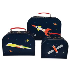 lot de 3 petites valises space age