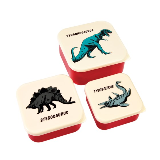 set 3 snackdosen prehistoric land