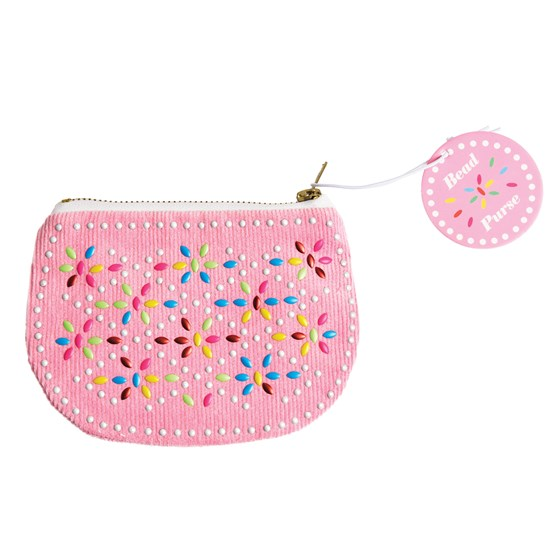 pink beaded purse