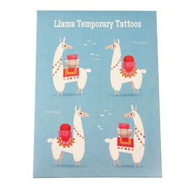dolly llama temporary tattoos (2 sheets)