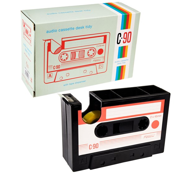 audio cassette desk tidy