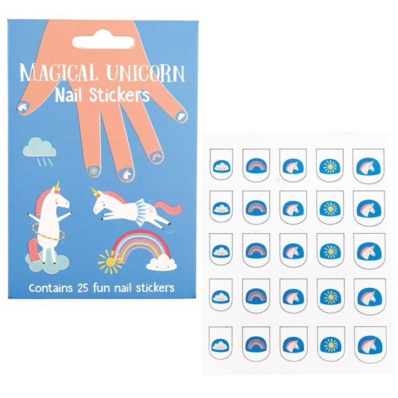 "autocollants pour ongles ""magical unicorn"" (paquet de 25)"
