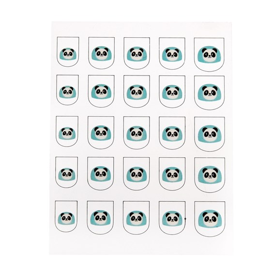 miko the panda nail stickers (pack of 25)