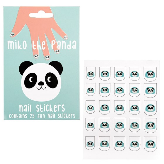 "autocollants pour ongles ""miko the panda "" (paquet de 25)"