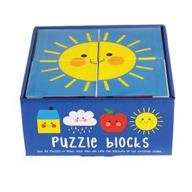 happy cloud puzzle blocks (set of 4)